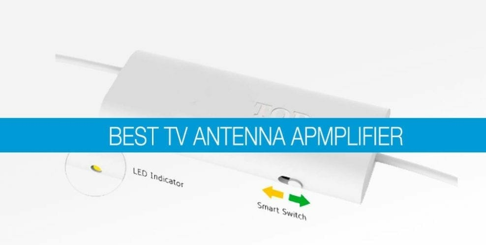 tv antenna amplifier in a banner